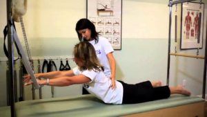 Image of Training Student on Pilates Equipment